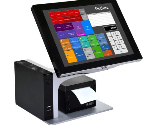 Aures Sango Black with Aures odp33 black receipt printer
