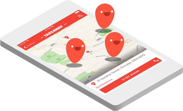 Online Ordering for Takeaway and Restaurant location tracker